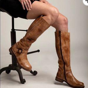 Bed Stu GLAYE Tall Riding Boots in Rustic Tan